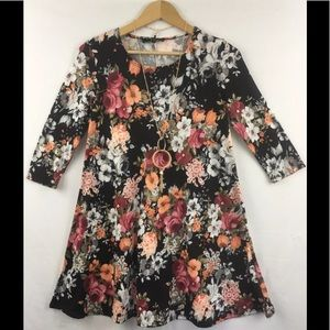 Vibe Sportswear Floral print Tunic Dress